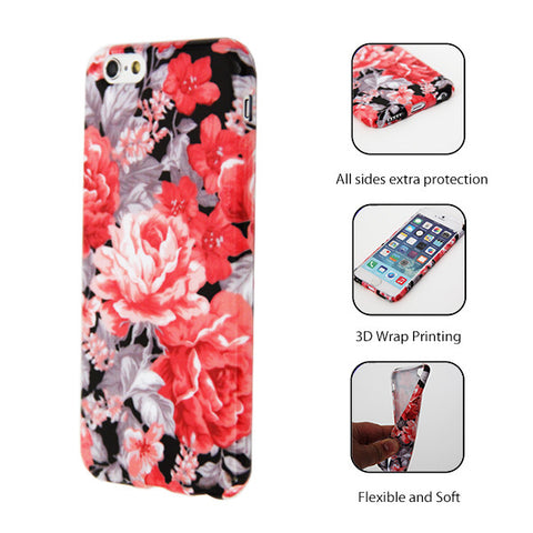Stylish Floral Pattern iPhone 6 Plus/6/5S/5C/5/4S/4 Protective Case 145 - Acyc - 1