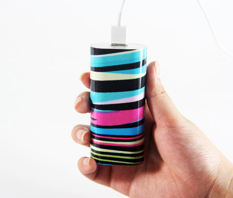 Abstract Silk Rainbow Power Bank Charger for iPhone and Samsung - Acyc - 1
