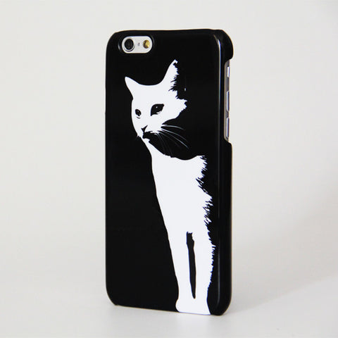 Elegant B/W Cat Design iPhone 6 Case/Plus/5S/5C/5/4S Dual Layer Durable Tough Case #191 - Acyc - 1