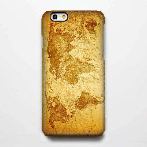 Retro World Map iPhone 6 Case/Plus/5S/5C/5/4S Protective Case#195 - Acyc - 1