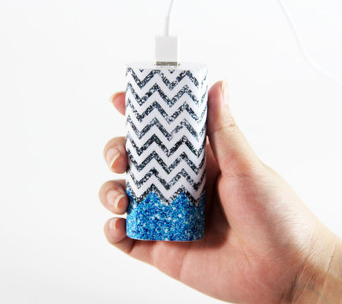 Vibrant Glitter Chevron  Portable Power Bank Charger for iPhone and Samsung - Acyc - 1
