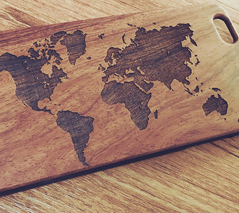 World Map Natural Wood Engraved iPhone 6s Case iPhone 6s plus Cover iPhone 6 5s 5 Real Wooden Case - Acyc - 1