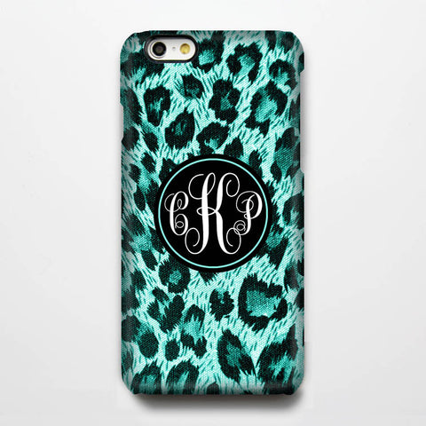 Teal Green Skin Monogram iPhone 6S Plus 6S 6 5S 5 5C 4 Dual Layer Durable Tough Case #209 - Acyc - 1