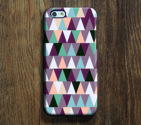 Mix Color Geometric Print iPhone 6S Case/Plus/6S/5S/5C/5/4S Dual Layer Durable Tough Case #261 - Acyc - 1