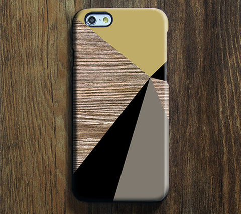 Natural Wood Geometric Women Style iPhone 6S Plus 6S 5S 5C 5 4 Dual Layer Durable Tough Case #262 - Acyc - 1