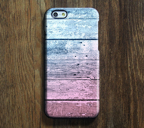 Pastel Wood Stripes Print iPhone 6s Case/Plus/5S/5C/5/4S Dual Layer Durable Tough Case #265 - Acyc - 1
