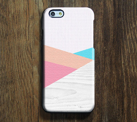 Geometric Pastel White Wood Pattern iPhone 6S Plus 6S 5S 5C 4 Dual Layer Durable Tough Case  #267 - Acyc - 1