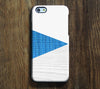 Geometric Blue White Wood Stripes  iPhone 6 Plus 5S 5 5C 4 Dual Layer Durable Tough Case #268 - Acyc - 1