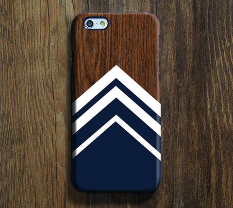 Navy Geometric Design  iPhone 6S Plus 6S 5S 5C 5 4 Dual Layer Tough Case  #270 - Acyc - 1