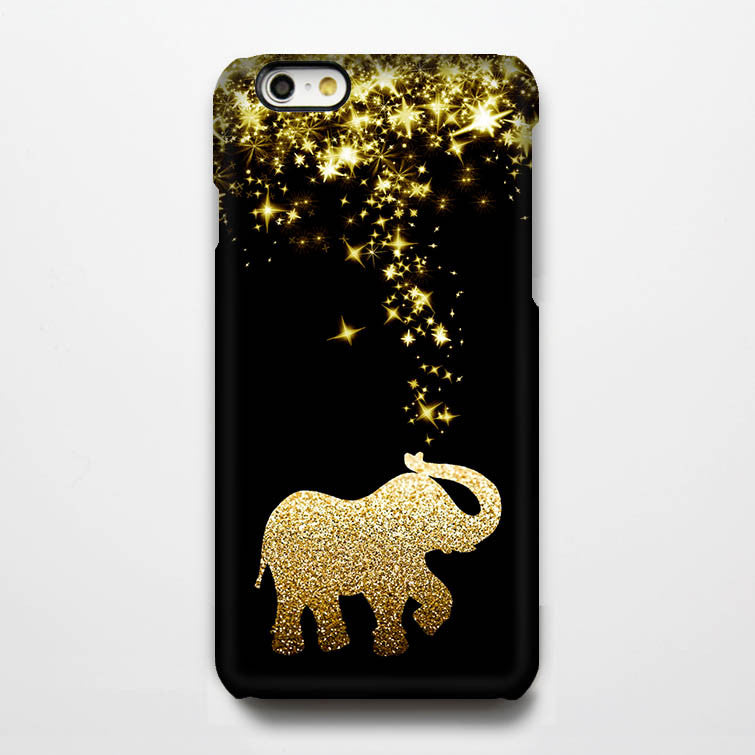 gold glitter stars elephant tough iphone 6s case 6 plus