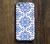 Classic Blue Floral Pattern iPhone 6 Plus/6/5S/5C/5/4S/4  Dual Layer Durable Tough Case #287 - Acyc - 1