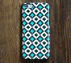 Seamless Turquoise Geometric iPhone 6 Case/Plus/5S/5C/5/4S Dual Layer Durable Tough Case #297 - Acyc - 1