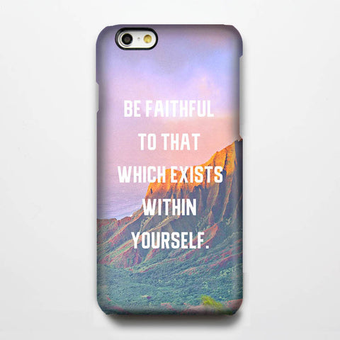 Be Faithful Quote iPhone 6s Plus/6/5S/5C/5/4S/4 Dual-Layer Tough Case#315 - Acyc - 1