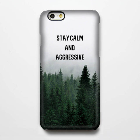 Stay Calm Quote Tough iPhone 6s Plus/6/5S/5C/5/SE Protective Case #317 - Acyc - 1