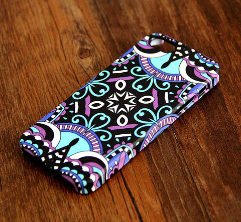 Tribal Stripe Violet Tough iPhone 6s Plus/6/5S/5C/5/4S/Se Protective Case #328 - Acyc - 1