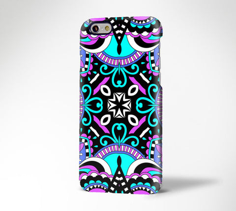 Folk Art Abstract Floral iPhone 6 Plus/6/5S/5C/5/4S/4 Dual Layer Durable Tough Case #328 - Acyc - 1
