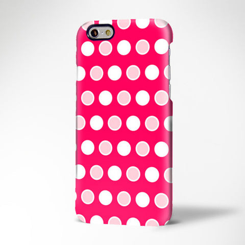 Pink Red Polka Print iPhone 6 Case/Plus/5S/5C/5/4S Case 420 - Acyc - 1