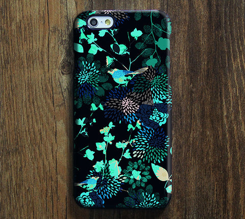 Asian Turquoise Floral Pattern iPhone 6 Plus/6/5S/5C/5/4S/4 Dual Tough Case #499 - Acyc - 1