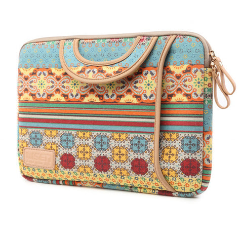 BOHO Notebook Canvas Pouch HandBag Liner Package Tote for Macbook Laptop - Acyc - 1