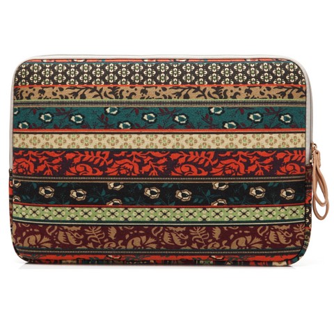 "Ethnic Sytle Notebook Pouch Fabric Sleeve Bag Case for Macbook Laptop  10"" 11"" 12""13"" 14"" 15.6"" - Acyc - 1"