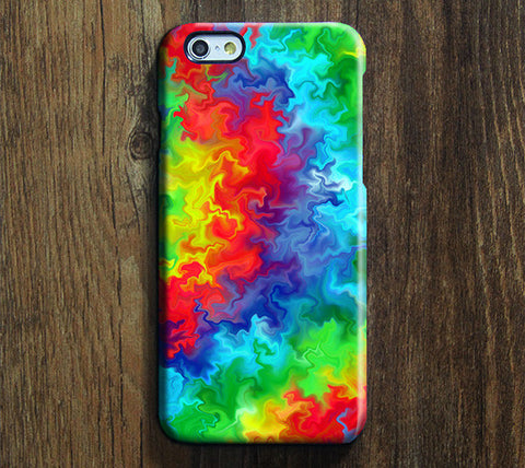Abstract Tie-Dye iPhone 6s Case/Plus/5S/5C/5/4S Durable Tough Case #622 - Acyc - 1