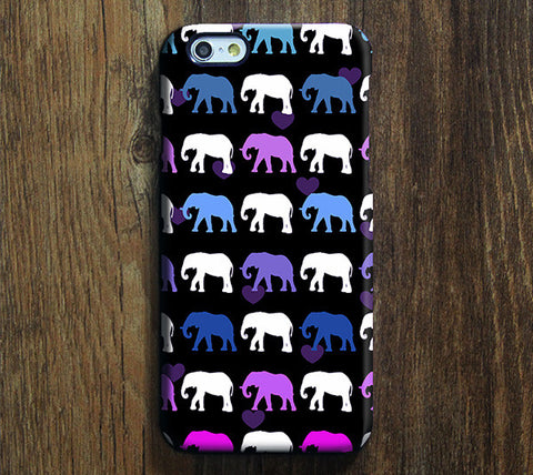 Pink Elephants Design iPhone 6 Case/Plus/5S/5C/5/4S Dual Layer Durable Tough Case #655 - Acyc - 1