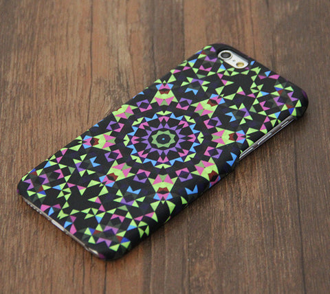 Colorful style flower geometric iPhone 6s Case/Plus/5S/5C/5/4S Dual Layer Durable Tough Case #657 - Acyc - 1