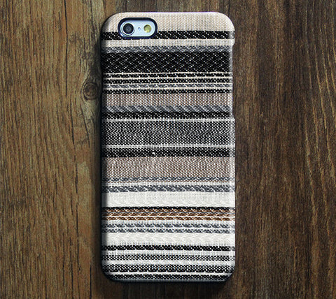 Fabric Stripe Design iPhone 6 Case/Plus/5S/5C/5/4S Dual Layer Durable Tough Case #676 - Acyc - 1