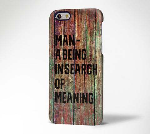 Man Slogan Grunge Wood Design Tough iPhone 6s Case/Plus/5S/5C/5/4S Dual Layer Protective Case #700 - Acyc - 1