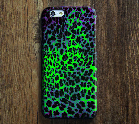 Violet Green Leopard Design iPhone 6 Case/Plus/5S/5C/5/4S Dual Layer Durable Tough Case #708 - Acyc - 1