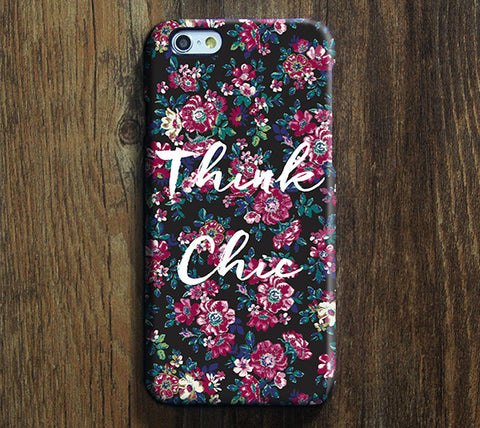 Think Chic Floral Design Tough iPhone 6s 6 Case/Plus/5S/5C/5/4S Dual Layer Protective Case #716 - Acyc - 1