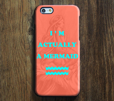 I Am Actually Mermaid Design Tough iPhone 6 Case/Plus/5S/5C/5/SE Dual Layer Protective Case #722 - Acyc - 1