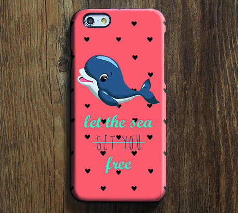 Let The Sea Get You Free Tough Dolphin iPhone 6 Case/Plus/5S/5C/5/SE Dual Protective Case #723 - Acyc - 1