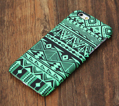 Green Tribal Pattern iPhone 6s Plus 6 5S 5C 5 4 Dual Layer Tough Case #730 - Acyc - 1