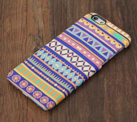 Aztec Blue and Yellow Design iPhone 6s Case/Plus/5S/5C/5 Dual Tough Case #739 - Acyc - 1
