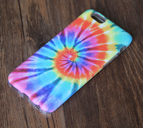 Tie Dye Rainbow iPhone 6s 6 Tough Case/Plus/5S/5C/5/SE Dual Layer Case #821 - Acyc - 1