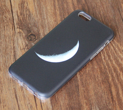 Black White Crescent Moon iPhone 6s 6 Tough Case/Plus/5S/5C/5/SE Protective Case #841 - Acyc - 1