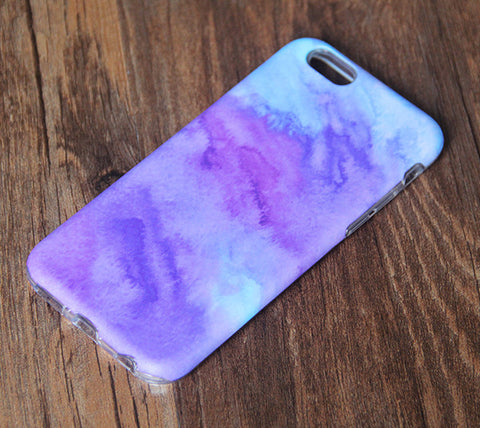 Turquoise Watercolor Purple Painting iPhone 6s 6 Tough Case/Plus/5S/5C/5/4S Dual Layer Case #855 - Acyc - 1