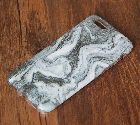 Natural Marble Grey iPhone 6s 6 Tough Case/Plus/5S/5C/5/SE Dual Layer Case #863 - Acyc - 1