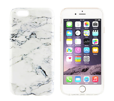 White Marble Design iPhone 6s 6 Case/Plus/5S/5C/5/4S Dual Layer Durable Tough Case #876 - Acyc - 1