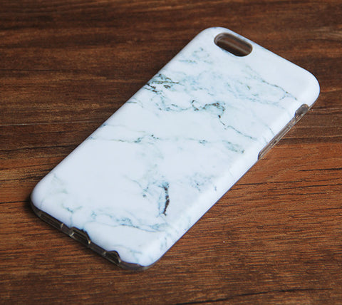 White Marble Print iPhone 6s 6 Case/Plus/5S/5C/5/4S Dual Layer Durable Tough Case #876 - Acyc - 1
