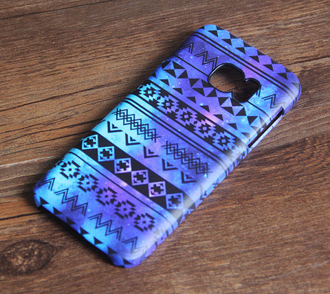 Blue and Purple Aztec Stripe Samsung Galaxy S7 Edge/S7/S6 Edge Plus/S6 Edge/S6/S5/S4/Note 5/Note 4/Note 3 Case 886 - Acyc - 1