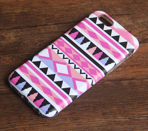 Pink Aztec Stripe iPhone 6s 6 Tough Case/Plus/5S/5C/5/SE Protective Case #887 - Acyc - 1