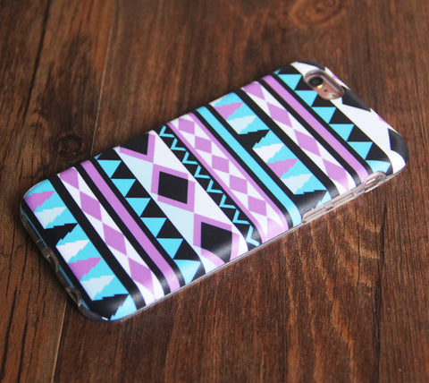 Turquoise Pink Ethnic Pattern iPhone 6s 6 Tough Case/Plus/5S/5C/5/SE Protective Case #896 - Acyc - 1