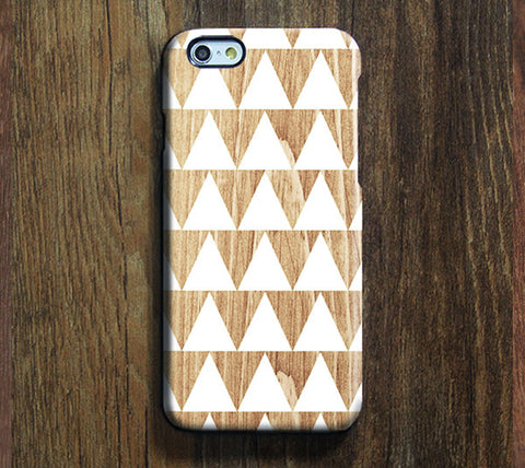 Triangle Wooden Geometric Tough iPhone 6s Case/Plus/5S/5C/SE Protective Case  #904 - Acyc - 1