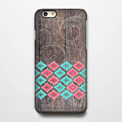 Aztec Grunge Wood iPhone 6 Case/Plus/5S/5C/5/4S Dual Layer Tough Case #912 - Acyc - 1