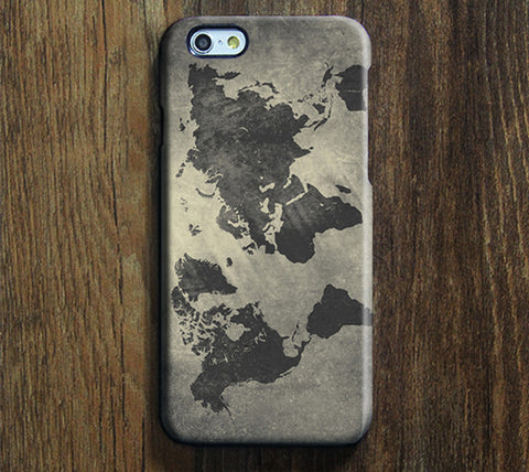Grunge World Map Tough iPhone 6s Case/Plus/5S/5C/5/SE Protective Case #918 - Acyc - 1