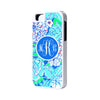 Stylish Floral Printing Monogram iPhone 6 Plus 6 5S 5 5C 4 Tough Case 921 - Acyc - 1