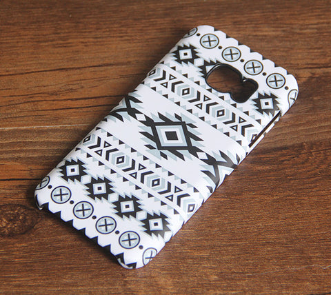 Ethnic Tribal Black and White Samsung Galaxy S7 Edge/S7/S6 Edge Plus/S6 Edge/S6/S5/S4/Note 5/Note 4/Note 3 Case 924 - Acyc - 1