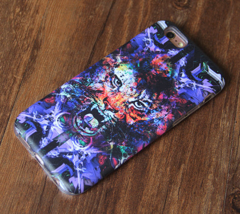 Artist Tiger Face iPhone 6s 6 Tough Case/Plus/5S/5C/5/SE Protective Case #926 - Acyc - 1
